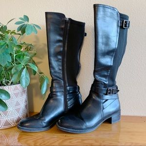 Franco Sarto Black Riding Boots w/ Stretchy Leg